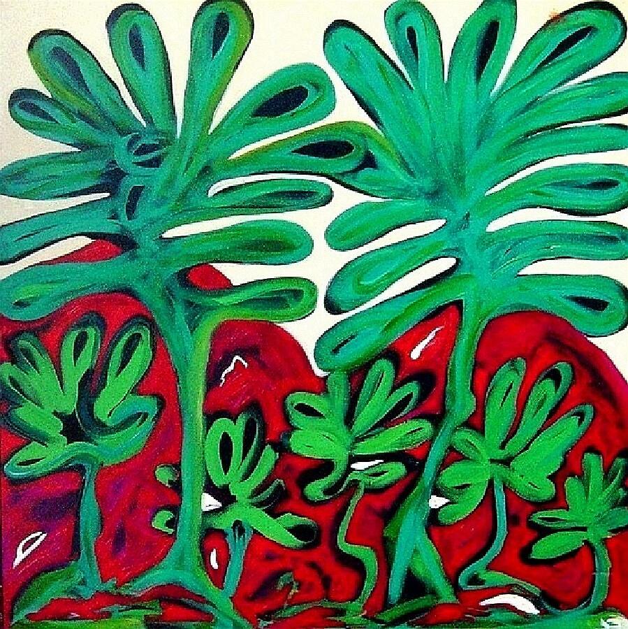 Green Trees I by artwinkel