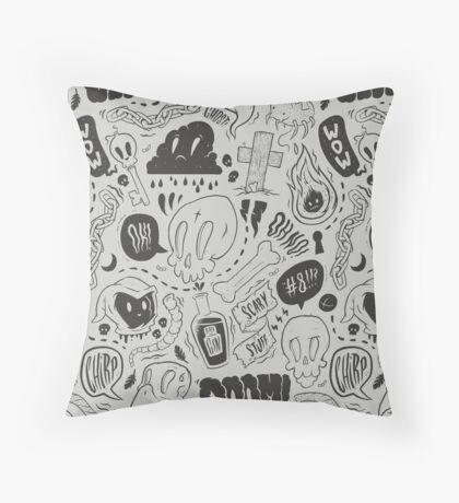 Gloom & Doom pattern Throw Pillow