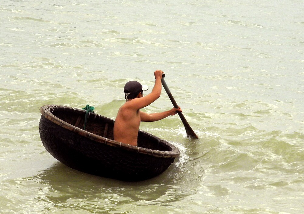 Vietnamese fisherman by mojgan