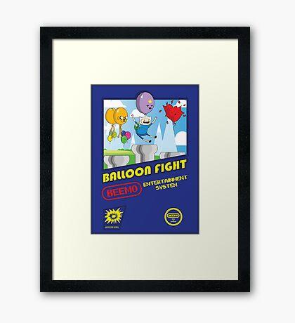 Adventure in Balloon Fighting Framed Print