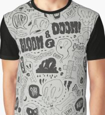 Gloom & Doom pattern Graphic T-Shirt