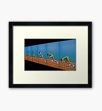 Cathy Freeman - Quick Off The Blocks Framed Print