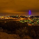 Cloudy night sky over Pretoria by Rudi Venter