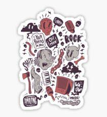 Rock, Shit Sticker