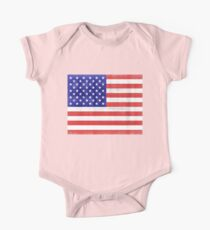Vintage American Flag #2 One Piece - Short Sleeve