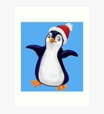Happy Holidays Penguin Art Print