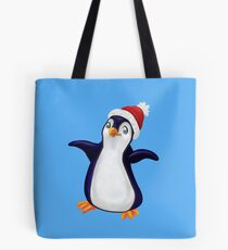 Happy Holidays Penguin Tote Bag