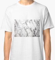 White Marble  Classic T-Shirt