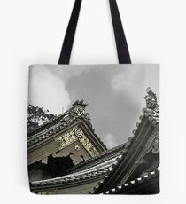 Old Japanese Rooftops Tote Bag