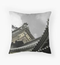 Old Japanese Rooftops Throw Pillow