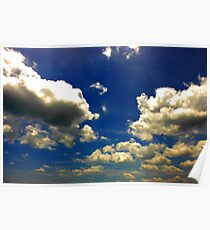 Etheral Sky Wrapped in Clouds Poster
