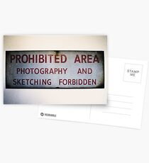 No Photography or Sketching  Postcards