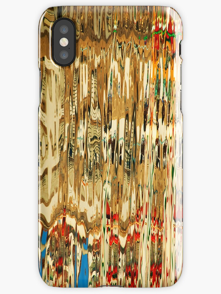 Abstract reflection patterns2-  iphone case by shelfpublisher
