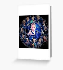 Doctor who (all 13 doctors) Greeting Card