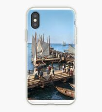Pier at the inlet, Atlantic City, N.J. year 1904 iPhone Case