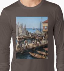 Pier at the inlet, Atlantic City, N.J. year 1904 Long Sleeve T-Shirt