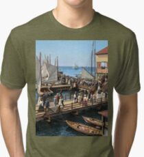 Pier at the inlet, Atlantic City, N.J. year 1904 Tri-blend T-Shirt