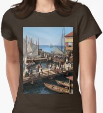 Pier at the inlet, Atlantic City, N.J. year 1904 Women's Fitted T-Shirt