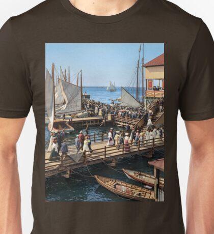 Pier at the inlet, Atlantic City, N.J. year 1904 Unisex T-Shirt