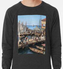 Pier at the inlet, Atlantic City, N.J. year 1904 Lightweight Sweatshirt