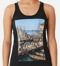 Pier at the inlet, Atlantic City, N.J. year 1904 Racerback Tank Top