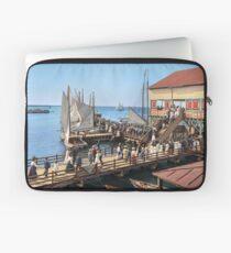 Pier at the inlet, Atlantic City, N.J. year 1904 Laptop Sleeve