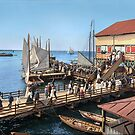 Pier at the inlet, Atlantic City, N.J. year 1904 by Sanna Dullaway