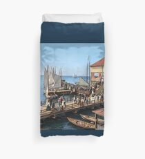 Pier at the inlet, Atlantic City, N.J. year 1904 Duvet Cover