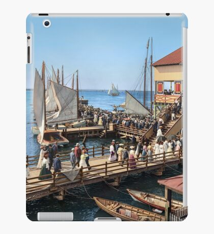 Pier at the inlet, Atlantic City, N.J. year 1904 iPad Case/Skin