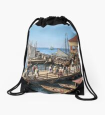 Pier at the inlet, Atlantic City, N.J. year 1904 Drawstring Bag
