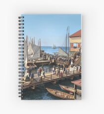 Pier at the inlet, Atlantic City, N.J. year 1904 Spiral Notebook