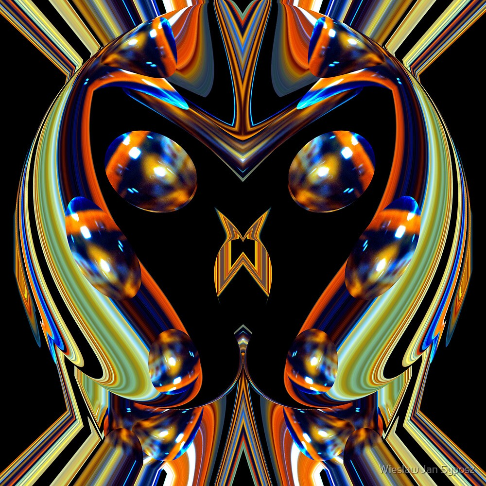 kaleidoscope man by Wieslaw Jan Syposz