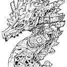 Clockwork Dragon BW II by Jessica Feinberg