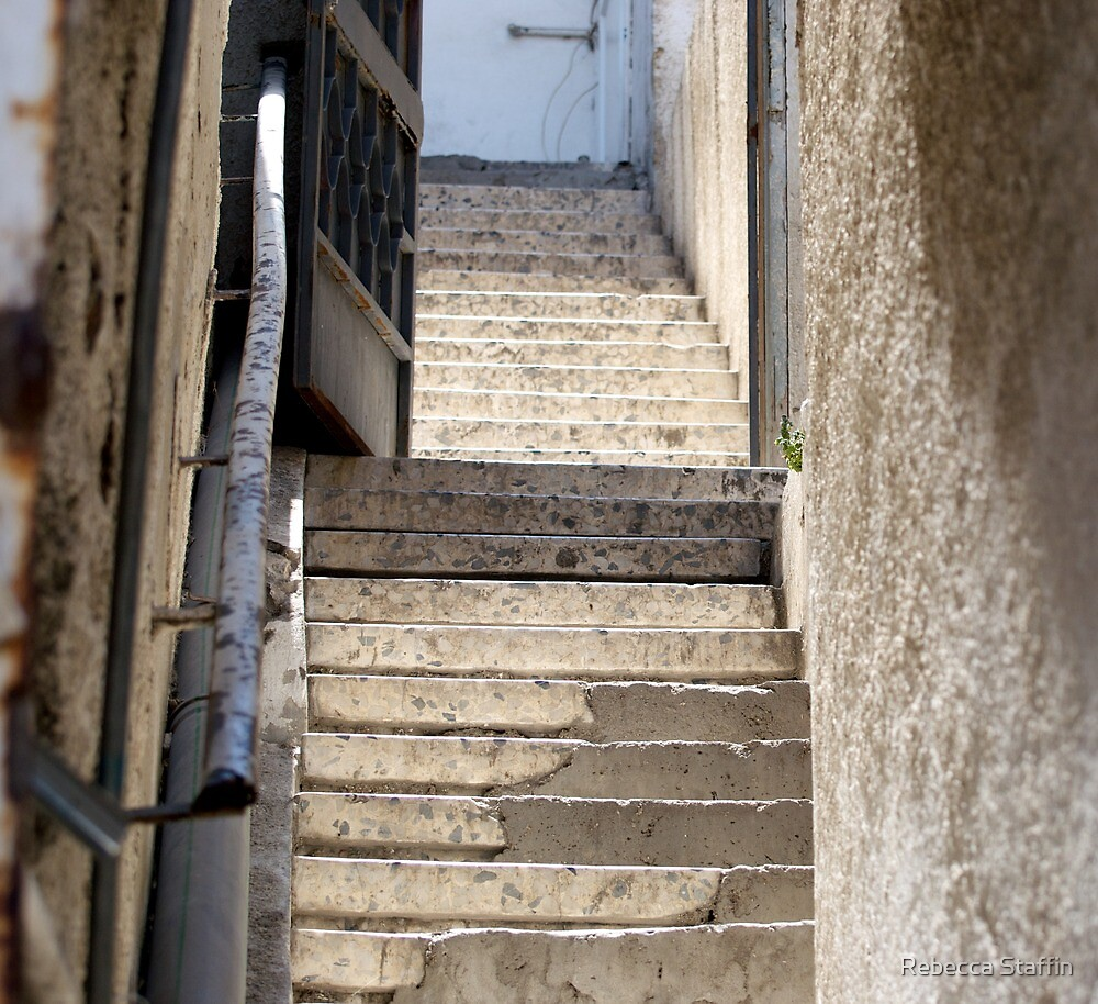 Stairway, Jerusalem, Israel by Rebecca Staffin