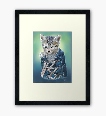 Puss in Boot (with Background) Framed Print