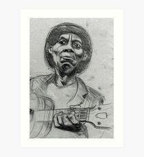 Portrait of Mississipi John Hurt Art Print