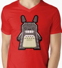 Robo Totoro Mens V-Neck T-Shirt