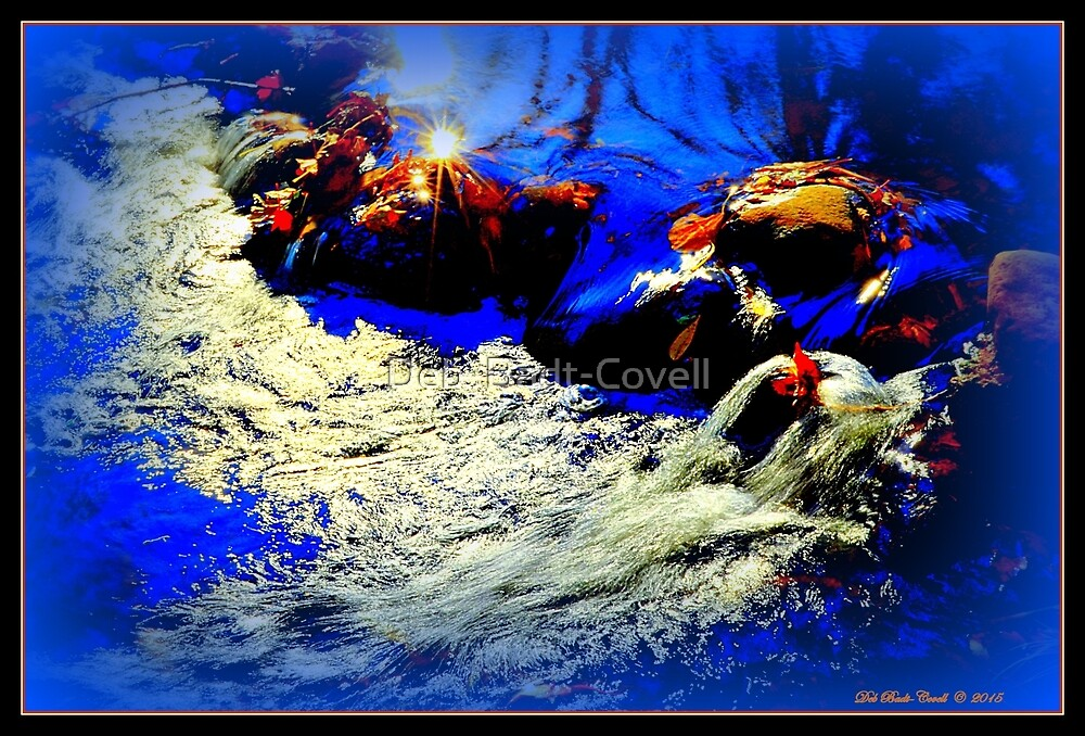 Autumn Rush - In Royal Blue by Deb  Badt-Covell