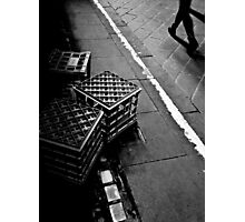The lonely life of a milk crate (watching the world go by) Photographic Print