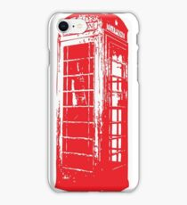 Vintage Telephone Booth iPhone Case/Skin
