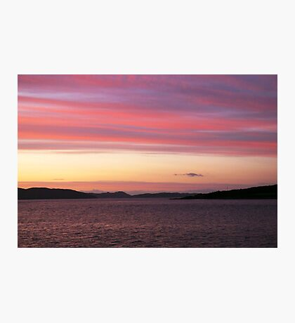 Pastel sunset Photographic Print