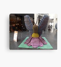 Butterfly Can Sculpture, Canstruction, Sculptures Made of Cans, New York City Canvas Print