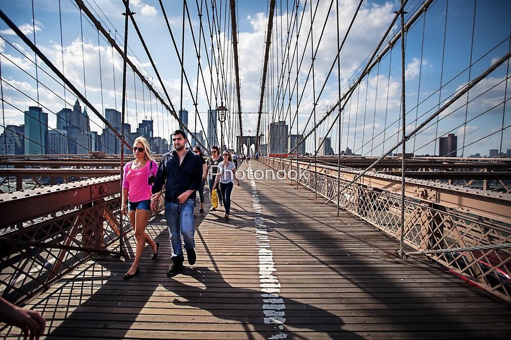 Strolling Brooklyn Bridge by Photonook