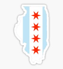 Chicago Illinois - Flag  Sticker