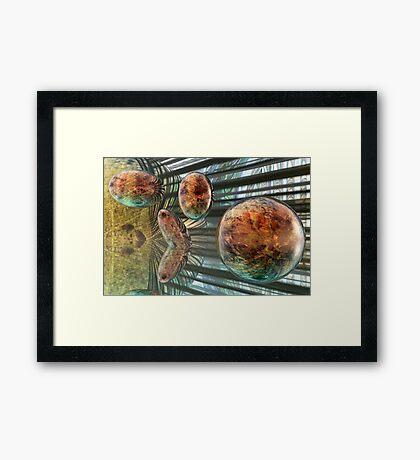 Evolution of Spheres Framed Print