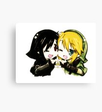 Link and Dark Link Chibi Canvas Print