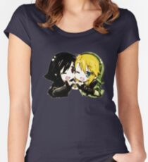 Link and Dark Link Chibi Women's Fitted Scoop T-Shirt