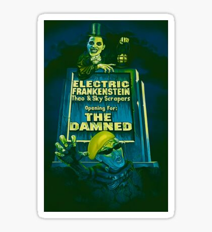 The Damned Poster Sticker