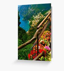 Amalfi Coast, Italy. Greeting Card
