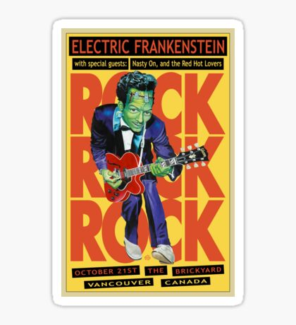 Electric Frankenstein Vancouver Canada Poster Sticker